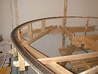 Spline, roadbed and track